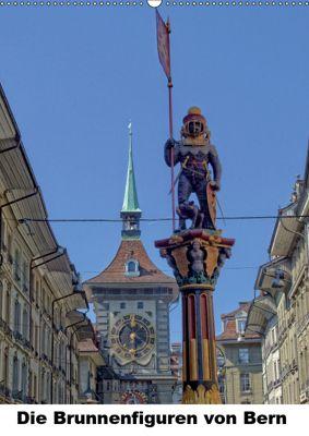 Die Brunnenfiguren von Bern (Wandkalender 2019 DIN A2 hoch), Susan Michel