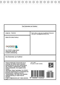 Die Dolomiten um Südtirol (Tischkalender 2019 DIN A5 hoch) - Produktdetailbild 13