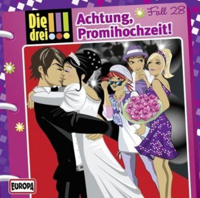 Die drei Ausrufezeichen Band 28: Achtung, Promihochzeit! (Audio-CD), Die Drei !!!