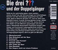 Die drei Fragezeichen - Hörbuch Band 28: Die drei Fragezeichen und der Doppelgänger (1 Audio-CD) - Produktdetailbild 1