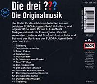 Die drei Fragezeichen - Hörbuch Band 29: Die Originalmusik (1 Audio-CD) - Produktdetailbild 1