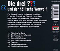 Die drei Fragezeichen - Hörbuch Band 43: Die drei Fragezeichen und der höllische Werwolf (1 Audio-CD) - Produktdetailbild 1