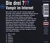Die drei Fragezeichen - Hörbuch Band 88: Vampir im Internet (1 Audio-CD) - Produktdetailbild 1