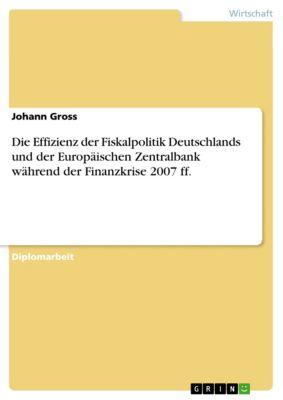 Die Effizienz der Fiskalpolitik Deutschlands und der Europäischen Zentralbank während der Finanzkrise 2007 ff., Johann Gross