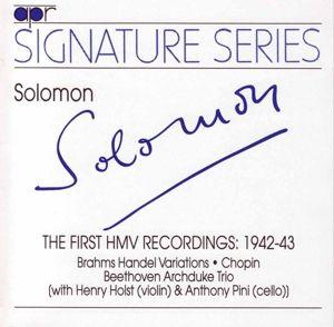 Die Ersten Hmv-Aufnahmen 1942/43, Solomon