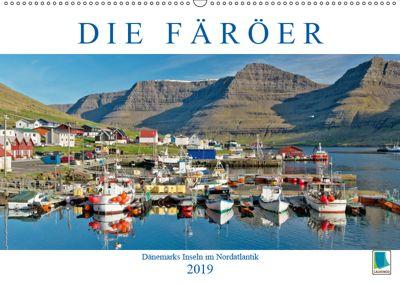 Die Färöer: Dänemarks Inseln im Nordatlantik (Wandkalender 2019 DIN A2 quer), k.A. CALVENDO