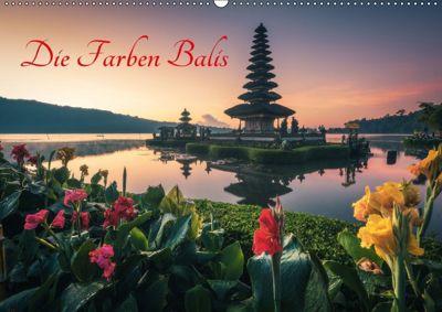 Die Farben Balis (Wandkalender immerwährend DIN A2 quer), Jean Claude Castor