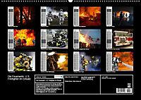 Die Feuerwehr. U.S. Firefighter im Einsatz (Wandkalender 2019 DIN A2 quer) - Produktdetailbild 13