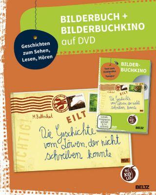 Die Geschichte vom Löwen, der nicht schreiben konnte, Bilderbuch + Bilderbuchkino auf DVD, Martin Baltscheit