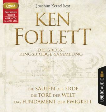 Die große Kingsbridge-Sammlung, 6 Audio-CDs, MP3 Format, Ken Follett