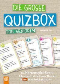 Die große Quizbox für Senioren (Kartenspiel) - Gisela Mötzing |