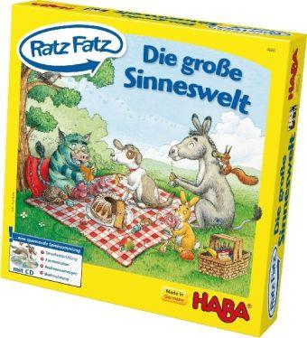 Die große Ratz Fatz Sinneswelt (Kinderspiel) + Audio-CD