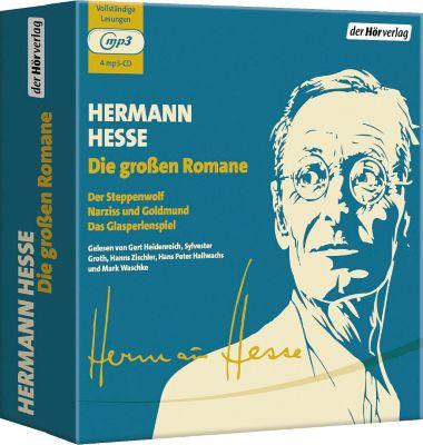 Die grossen Romane, 4 MP3-CDs, Hermann Hesse