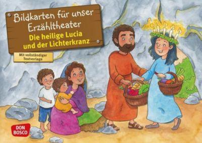 Die heilige Lucia und der Lichterkranz. Kamishibai Bildkartenset. - Catharina Fastenmeier |