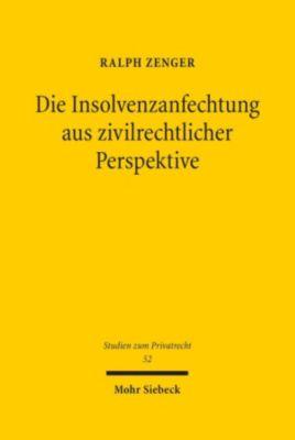 Die Insolvenzanfechtung aus zivilrechtlicher Perspektive, Ralph Zenger