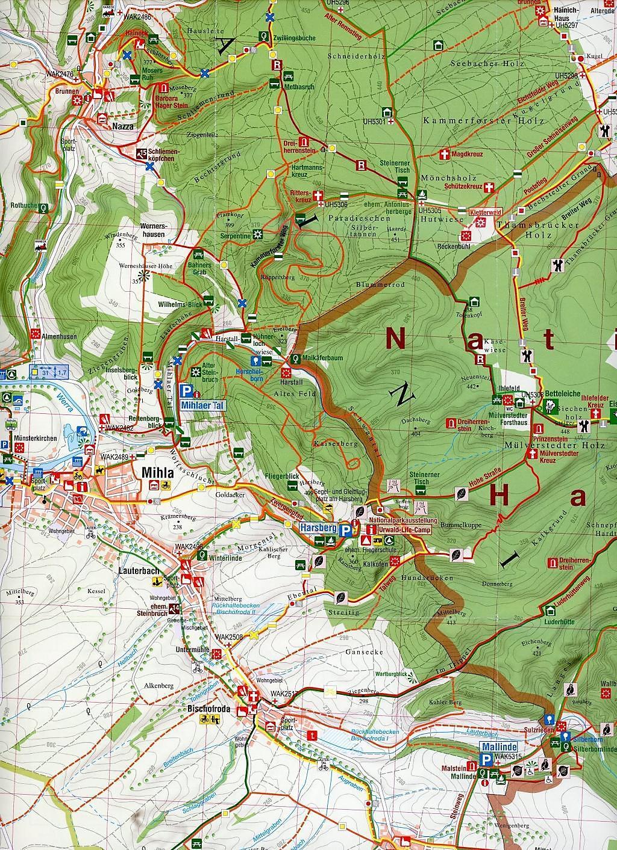 Karte Thüringen.Die Karte Freizeit In Thüringen 02 Nationalpark Hainich 1 30