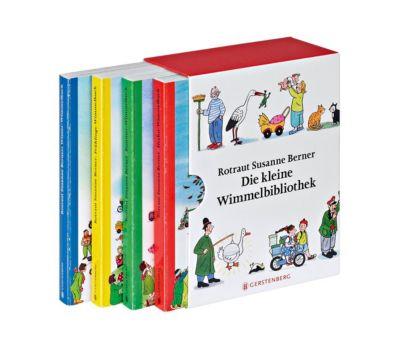 Die kleine Wimmelbibliothek, 4 Bde., Rotraut Susanne Berner