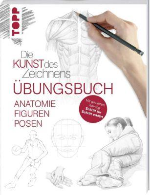 Die Kunst des Zeichnens - Anatomie Figuren Posen Übungsbuch, frechverlag