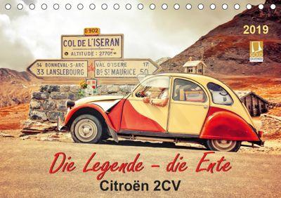 Die Legende - die Ente, Citroën 2CV (Tischkalender 2019 DIN A5 quer), Peter Roder