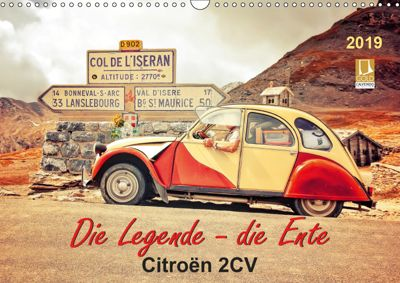 Die Legende - die Ente, Citroën 2CV (Wandkalender 2019 DIN A3 quer), Peter Roder