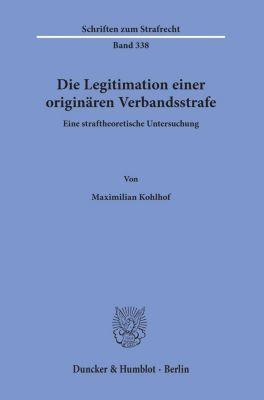 Die Legitimation einer originären Verbandsstrafe. - Maximilian Kohlhof pdf epub