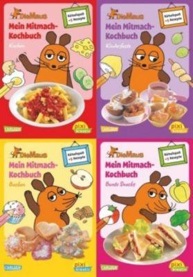 Die Maus - Mein Mitmachkochbuch, 4 Hefte, Antje Bones