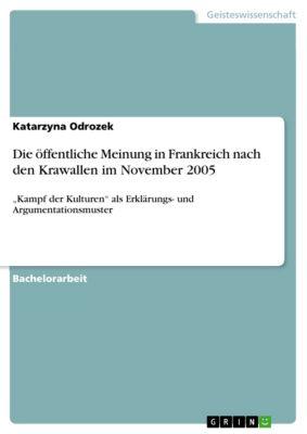 Die öffentliche Meinung in Frankreich nach den Krawallen im November 2005, Katarzyna Odrozek