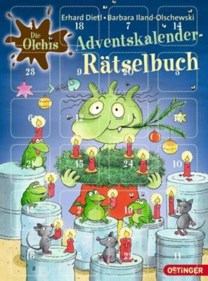 Die Olchis. Adventskalender-Rätselbuch, Barbara Iland-Olschewski, Erhard Dietl