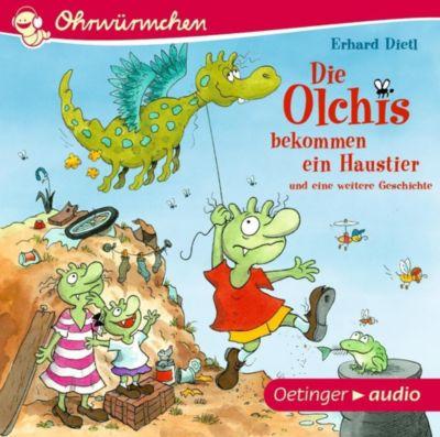 Die Olchis bekommen ein Haustier und eine weitere Geschichte, 1 Audio-CD, Erhard Dietl