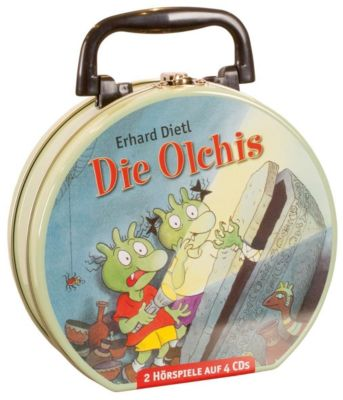 Die Olchis - Mein Hörbuch-Koffer, 4 Audio-CDs, Erhard Dietl