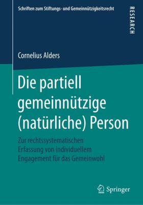 Die partiell gemeinnützige (natürliche) Person, Cornelius Alders