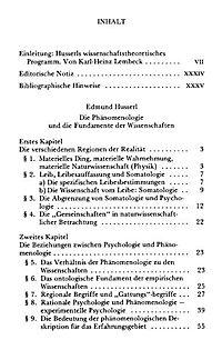 Die Phänomenologie und die Fundamente der Wissenschaften - Produktdetailbild 2