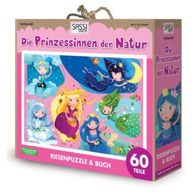 Die Prinzessinnen der Natur - Riesenpuzzle & Buch, 60 Teile