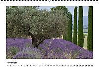 Die Provence zur Lavendelblüte (Wandkalender immerwährend DIN A2 quer) - Produktdetailbild 11