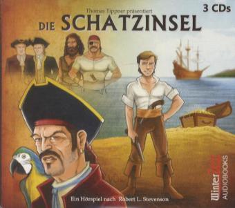 Die Schatzinsel, 3 Audio-CDs, Robert Louis Stevenson