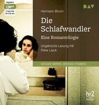 Die Schlafwandler. Eine Romantrilogie, 3 MP3-CDs, Broch Hermann