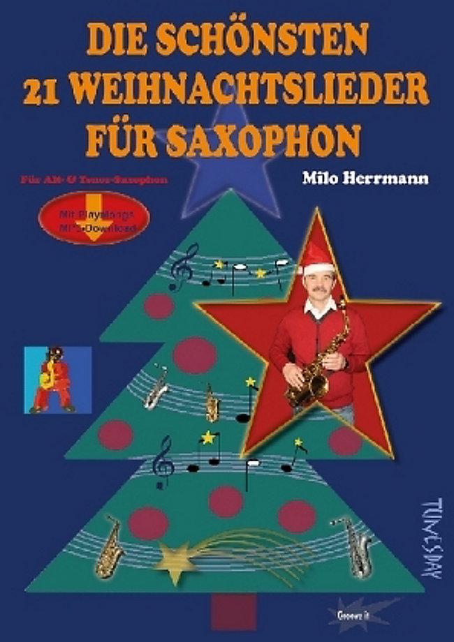 Die schönsten 21 Weihnachtslieder für Saxophon Buch portofrei