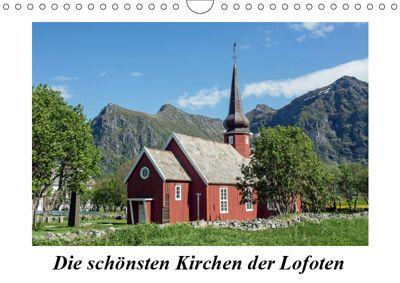 Die schönsten Kirchen der Lofoten (Wandkalender 2019 DIN A4 quer), Christoph Ebeling