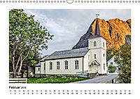 Die schönsten Kirchen der Lofoten (Wandkalender 2019 DIN A3 quer) - Produktdetailbild 2