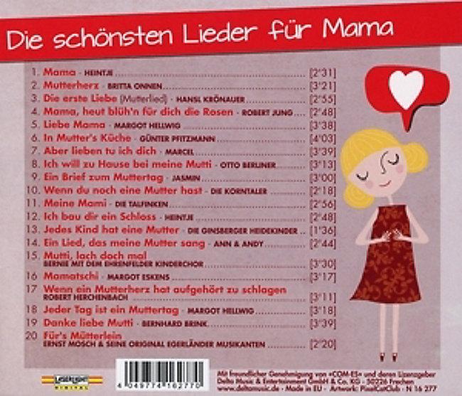 Die Schönsten Lieder Für Mama Cd Von Various Bei Weltbildat