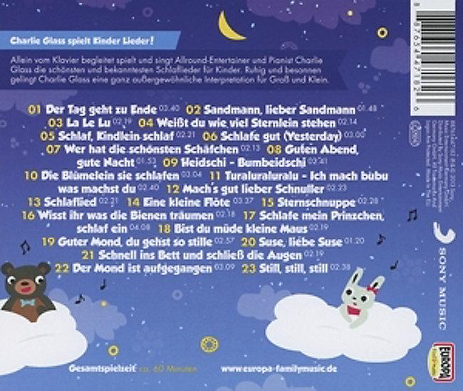 Die Schönsten Schlaflieder Für Kinder Von Charlie Glass Weltbildde