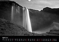 Die schönsten Wasserfälle Islands in schwarz weiß Fotos (Wandkalender 2019 DIN A3 quer) - Produktdetailbild 3