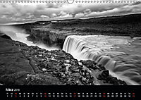 Die schönsten Wasserfälle Islands in schwarz weiß Fotos (Wandkalender 2019 DIN A3 quer) - Produktdetailbild 11