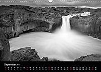 Die schönsten Wasserfälle Islands in schwarz weiß Fotos (Wandkalender 2019 DIN A3 quer) - Produktdetailbild 13