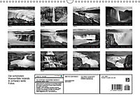 Die schönsten Wasserfälle Islands in schwarz weiß Fotos (Wandkalender 2019 DIN A3 quer) - Produktdetailbild 10