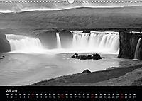 Die schönsten Wasserfälle Islands in schwarz weiß Fotos (Wandkalender 2019 DIN A3 quer) - Produktdetailbild 8