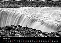 Die schönsten Wasserfälle Islands in schwarz weiß Fotos (Wandkalender 2019 DIN A2 quer) - Produktdetailbild 1