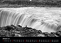 Die schönsten Wasserfälle Islands in schwarz weiss Fotos (Wandkalender 2019 DIN A2 quer) - Produktdetailbild 1