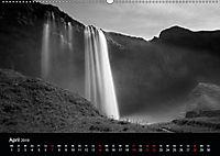 Die schönsten Wasserfälle Islands in schwarz weiß Fotos (Wandkalender 2019 DIN A2 quer) - Produktdetailbild 4