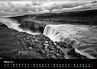 Die schönsten Wasserfälle Islands in schwarz weiss Fotos (Wandkalender 2019 DIN A2 quer) - Produktdetailbild 3